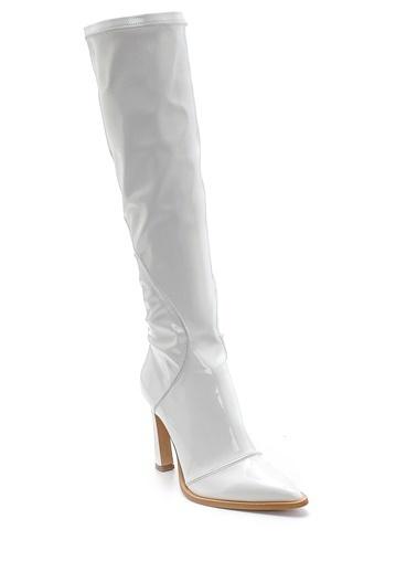Derimod Kadın Çizme (53615) Klasik Beyaz